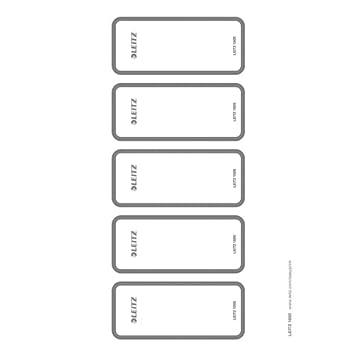 Leitz 16920085 - Etiquetas autoadhesivas para PC o clasificador (50 unidades), color gris: Amazon.es: Oficina y papelería
