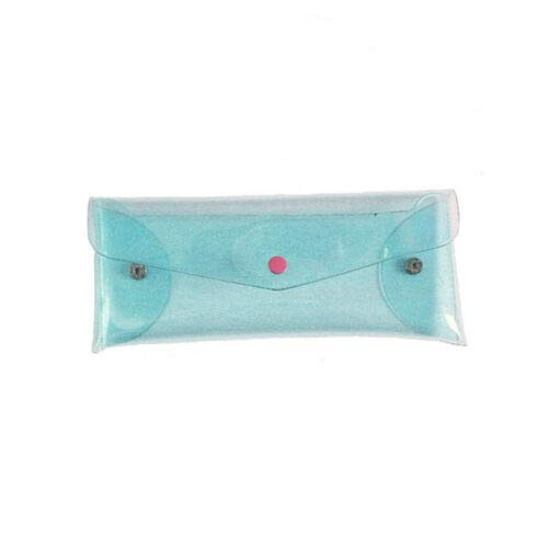 Transparent Laser Coin Purses PVC Wallet Holder Girls Cosmetic Pouch Gifts D (Colors - Blue)