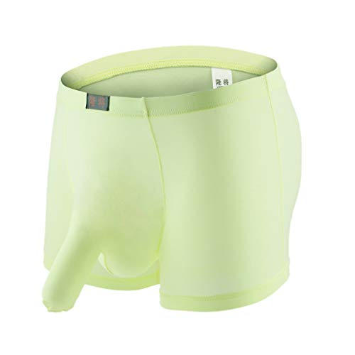 Men's Breathable Cotton Underwear Briefs No Fly Stretchy Waistband,by MmNote Green