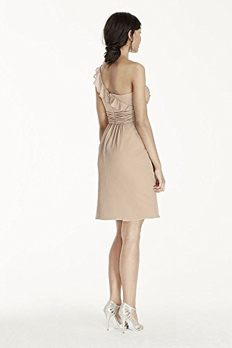 Short One Shoulder Chiffon Bridesmaid Dress