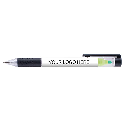 Duplex Pen and Highlighter - Green Highlighter, Blue Ink - 200 Quantity - $0.99 each - Promotional Product/Bulk/WITH YOUR CUSTOMIZED (Promotional Highlighter)