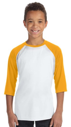 ALO YTH PERFORMANCE BB TEE (WHT/SP ATH GOLD) (XS)