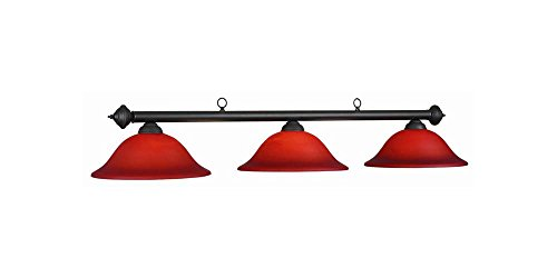 60 Inch 3 Bulb Marseilles Ceiling Lamp in Burgundy (7 Ram Lighting Pendant)
