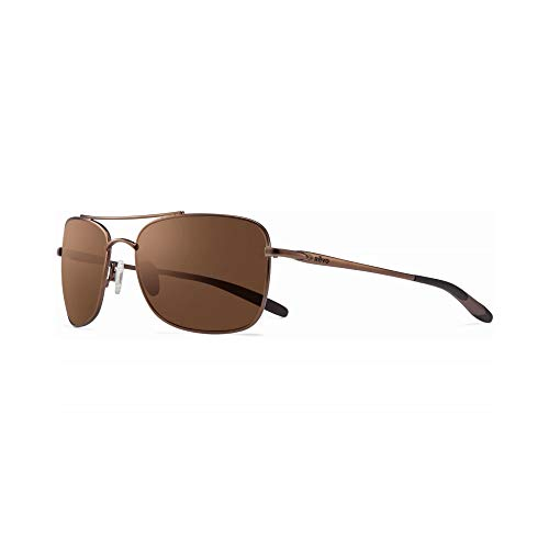 Revo Territory RE 1034 02 BR Polarized Aviator Sunglasses, Brown Terra, 60 ()