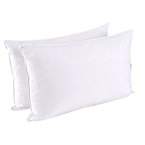 Duck Down Pillow - puredown Down Feather Pillows For Sleeping, Set of 2, Queen