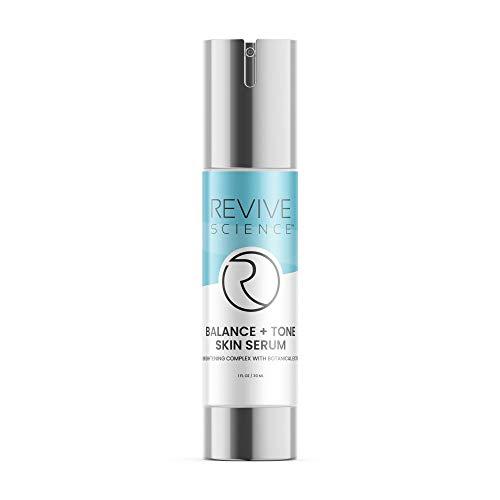 31 mP9g9QJL - Revive Science Balance + Tone Skin Serum, Anti Aging Dark Spot Corrector Face Cream to Smooth & Lighten Skin, Fade Scars, Remove Age Spots & Brighten Glow for Men & Women, 1 oz