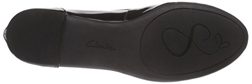 Patent Black Damen Couture Schwarz Clarks Ballerinas Bloom w7O6xzqU