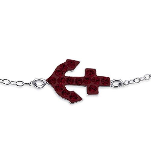 Siam Sterling Bracelet (Atik Jewelry Silver Anchor Inline Bracelet - Siam)