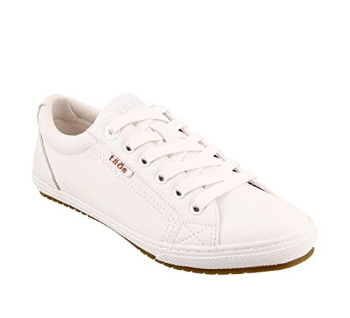 Taos Footwear Women's Retro Star White Sneaker 7.5 M US