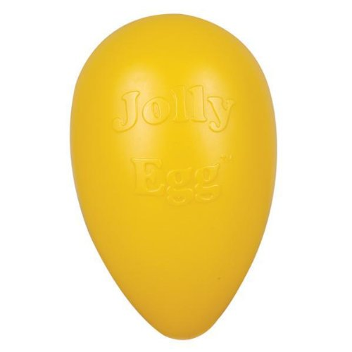 Jolly Pets Egg Plastic Ball for Pets, 12-Inch, Yellow, My Pet Supplies