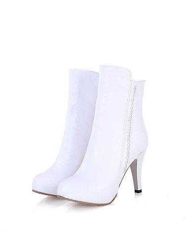 Mujer White De 5 Semicuero Xzz Uk6 Botas Tacón Stiletto Cn38 Cn39 Zapatos Marrón Eu39 Negro Casual 5 Blanco Beige Uk5 us8 Eu38 Puntiagudos us7 Brown wFUgqUEC