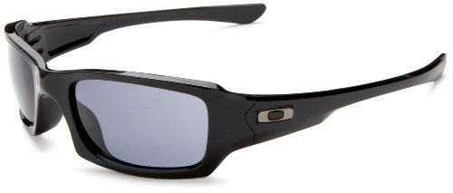 Oakley Men's Fives Squared Sunglasses,Polished Black Frame/Grey Lens,one - Casual Sunglasses Oakley