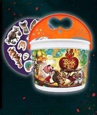 2014 McDonald's Happy Meal Book of Life Halloween Bucket Orange Handle Mint New -