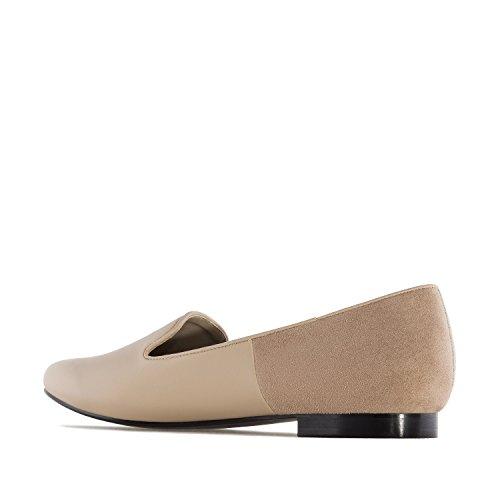Andres Machado.AM5221.Slippers combinés.Pour femmes. Grandes pointures.42/45 Tostado
