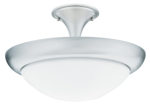 Lithonia Lighting 11736 BN M4 Pristine Semi or Flush Mount 16.5-Inch Ceiling Light Fixture, Brushed Nickel ()