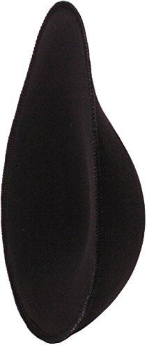 Bravo Post Mastectomy Breast Form pad: Lightweight, Soft & Natural Looking … (Black, Medium)