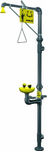 Bradley S19-310PVC PVC 3 Spray Head Combination Drench Shower and Eye/Face Wash Unit, 20 GPM, 9