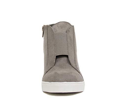 Soda Vesper - Mid Ankle Platform Sneaker w/Hidden Wedge and Side Zipper