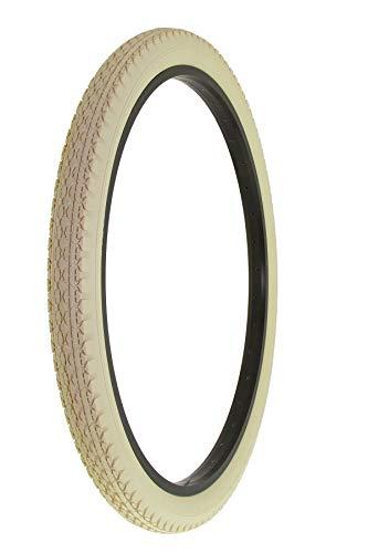 Alta Bicycle Tire Duro 26 x 2.125 Bike Thread Diamond Drizzle Style (Cream) (Colored Bike Tires)