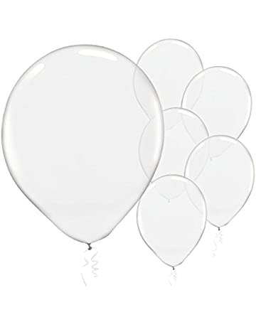 amazon balloons decorations home kitchen 1970s Kitchen Decor solid color latex balloons clear transparent color pack of 72 party decor