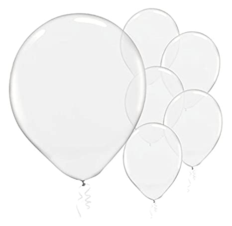Amazon Amscan Enchanting Clear Transparent Solid Latex Balloons Party Decoration 12 Pack Of 72 Toys Games