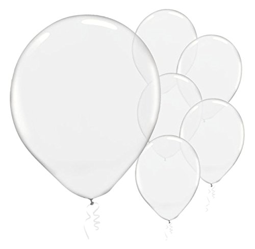 Solid Color Latex Balloons - Clear Transparent Color, Pack of 72, Party Decor]()