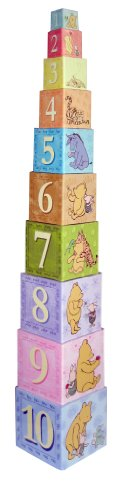 Disney Baby Classic Pooh Stacking Nesting Blocks, 6