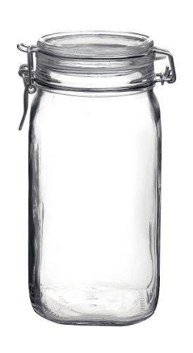 Bormioli Rocco Fido Round Clear Jar, 50-3/4-Ounce by Bormioli Rocco