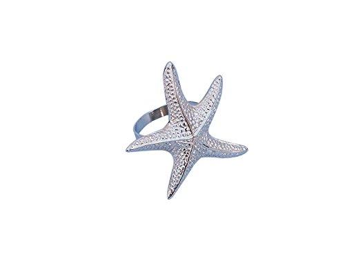 Starfish Napkin Ring Finish: Chrome ()