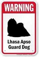 Mentalsign Warning Dog Breed Sign: Warning Lhasa Apso Guard Dog (Warning Lhasa Apso)