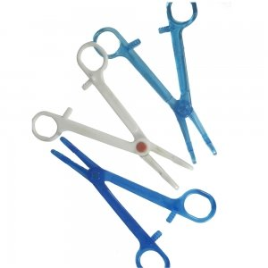 Amazon Com Plastic Sterile Disposable Slotted Navel Clamp