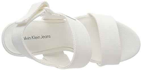 000 Canvas Jeans Klein Ofw Femme Bride Lacey Cassé Blanc Cheville Calvin Escarpins fS1wPaq