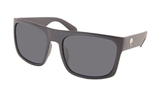 KOHV ''Bear'' Matte Black/Smoke Polarized Sunglasses - Quality Eyewear for Men & Women, Affordable Men's Sunglasses or Women's Sunglasses