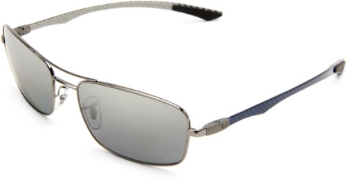 Ray-Ban RB8309 - GUNMETAL Frame POLAR GRAY MIRROR SILVER GRAD. Lenses 59mm Polarized