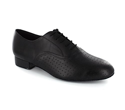 TDA Men's Style Swing Black Leather Ballroom Tango Latin Dance Shoes 12 M US by TDA