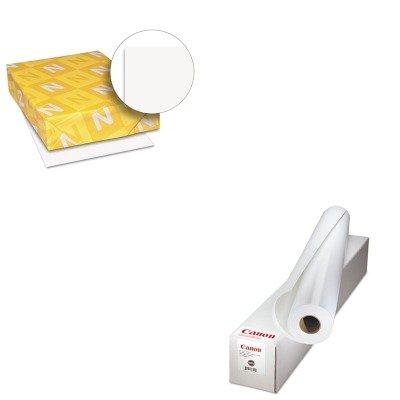 Exact Paper Coated (KITCNM0849V354WAU40411 - Value Kit - Canon Matte Coated Paper (CNM0849V354) and Neenah Paper Exact Index Card Stock (WAU40411))