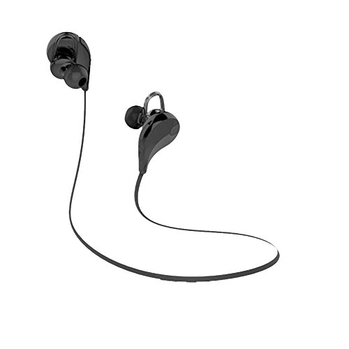 XY QY7 Bluetooth Headphones, Foneso V4.1 Wireless Sport In-Ear Sweat-proof Headset for iPhone 7 6 Samsung Galaxy and other Smartphones