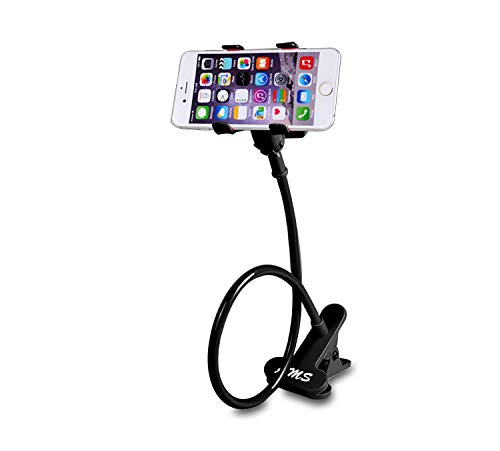 AMS Universal Cell Phone Holder, Clip Holder, Lazy Bracket Flexible Long Arms for All Mobile, Fit On Desktop Bed Mobile Stand for Bedroom, Office, Kitchen