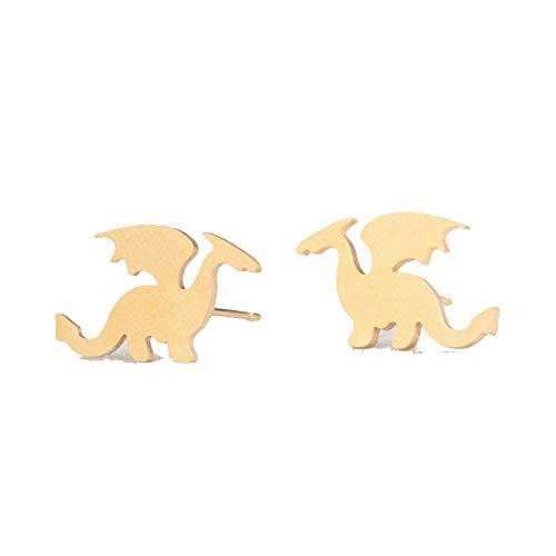 Stainless Steel Cute Stud Earrings Carnations for Girls Animal Heart Leaves Cat Earrings - Sterling Silver Newport Ring