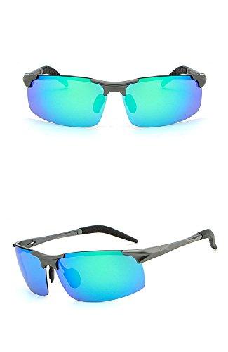 la los marco espejo gafas aire de RFVBNM de de libre del de Gafas del al gafas la del de aluminio magnesio armas del de de hombres caja sol verde Lente polarizador personalidad de sol le anti ULTRAVIOLETA sol manera conductor w4pwZx8q