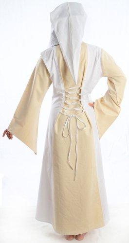 S zum Kleid rot braun XL weiß Schnüren mit Mittelalter Damen blau Gugel grün Weiß HEMAD schwarz qfwHOT