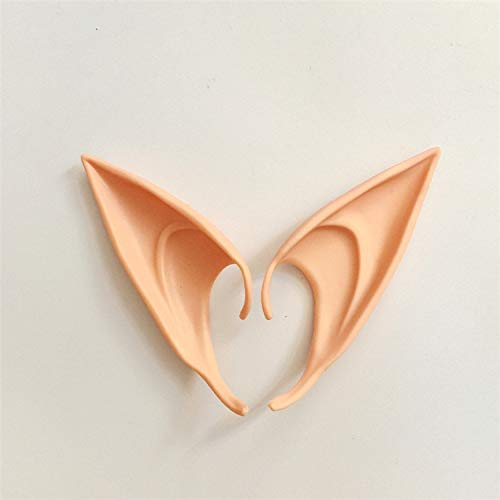 Yichener 1 Pair Elf Ears Fairy Cos Mask Cosplay Accessories Latex Soft Prosthetic False Ear Halloween Party Masks ()
