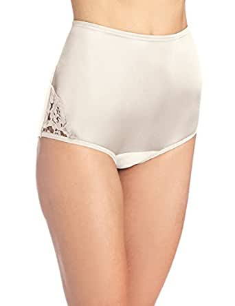 Vanity Fair Women's Perfectly Yours Lace Nouveau Brief Panty 13001, Fawn, 5