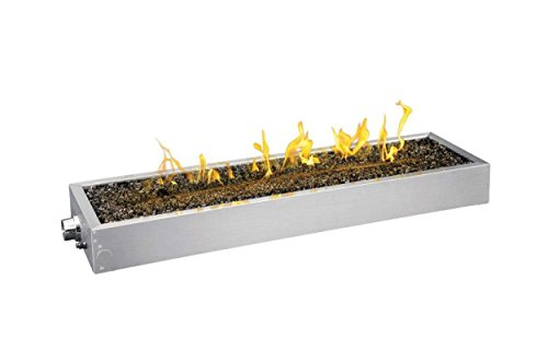 Napoleon Flame Sensing Gas Fire Pit Kit (GPFL48), 47.5 x 13.5 Inches, Linear, Push Button Spark (Napoleon Fire Pits)