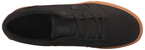 DC DCANVIL TX M Shoe - A Collo Basso Uomo, Grigio (Black/Black/Gum), 39 EU D(M)