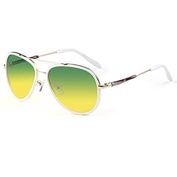 Sonnenbrille Unisex-Farbverlauf Linse Anti-Glare Anti-UV polarisierte Licht Sonnenbrille JP0Ct