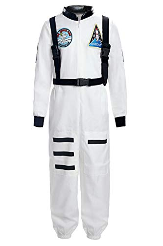 ReliBeauty Boys Girls Kids Children Astronaut Role Play Costume, White, 4T-4 -