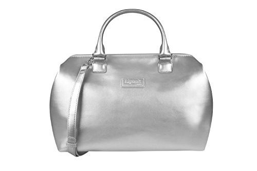 (Lipault - Miss Plume Bowling Bag - Medium Top Handle Shoulder Boston Handbag for Women - Silver)
