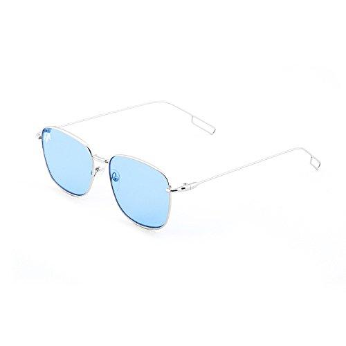 degradadas mujer TWIG Plata de espejo sol TANNING Transparent Azul Gafas hombre qaXnHFxw