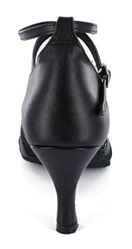 Modern Shoes Colorful Salsa Flared Heel Dance Latin Black Toe Colsed Ballroom TDA Wedding Tango Womens qxYwOXOv